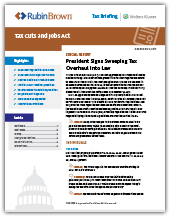 Tax Cuts and Jobs Act briefing